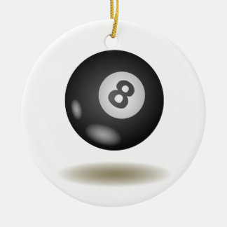 Cool Billiard Emblem Ceramic Ornament