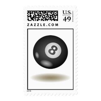 Cool Billiard Emblem Postage