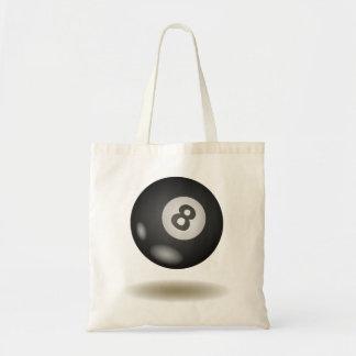 Cool Billiard Emblem Tote Bag