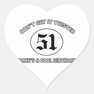 cool birthday design heart sticker