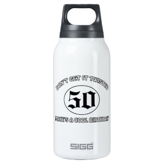 cool birthday design insulated water bottle