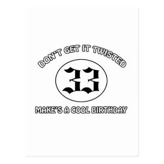 cool birthday design postcard