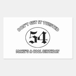 cool birthday design rectangular sticker