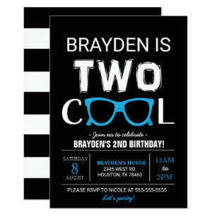 Cool Birthday Invitations Announcements Zazzle