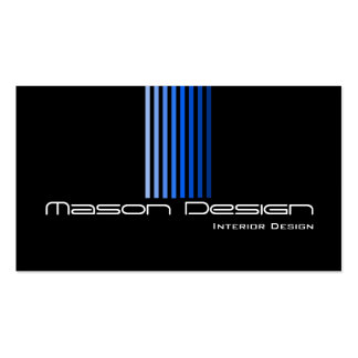 Cool Black and Blue Modern - Business Card