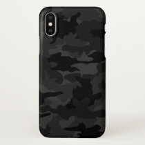Cool Black and Gray Camouflage Camo Pattern Glossy iPhone X Case