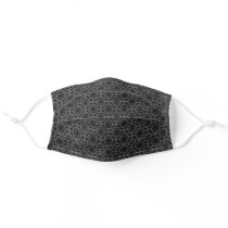 Cool Black and Gray Geometric Pattern Adult Cloth Face Mask