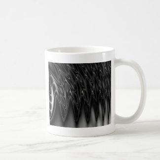 Cool Black and Silver light wave design Coffee Mug
