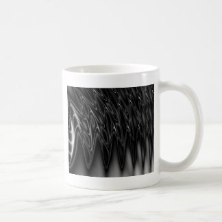 Cool Black and Silver light wave design Mugs