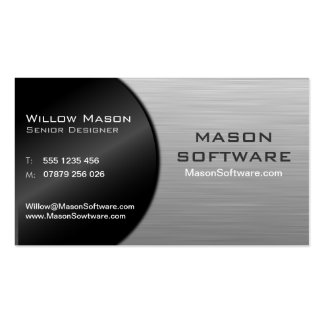 Cool Black and Steel Folded Technology - Bus Card Business Card Templates