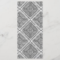 Cool Black and White Aztec Tribal Pattern