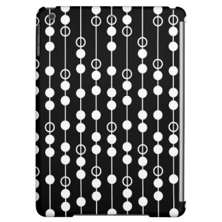 Cool Black and White Circles, Dots, Stripes iPad Air Cover