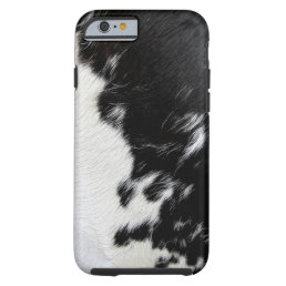 Cool Black and White Cow Hide Tough iPhone 6 Case