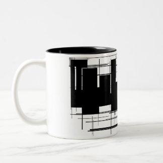 Cool Black and White Design Coffee Mug/Cup Two-Tone Coffee Mug