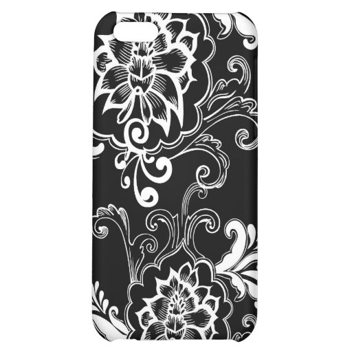 Cool black and white floral graphic design iPhone 5C cases ...