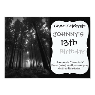 Cool Black and White Forest Fog Silence Gifts Card