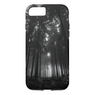 Cool Black and White Forest Fog Silence Gifts iPhone 8/7 Case