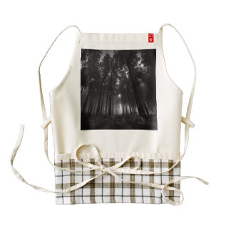 Cool Black and White Forest Fog Silence Gifts Zazzle HEART Apron