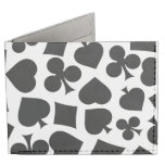Cool Black and White Gifts Ideas for Poker Players Billfold Wallet