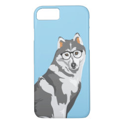 Cool Black and White Hipster Akita Inu iPhone 8/7 Case