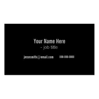 cool black and white modern profile cards Double-Sided standard business cards (Pack of 100)