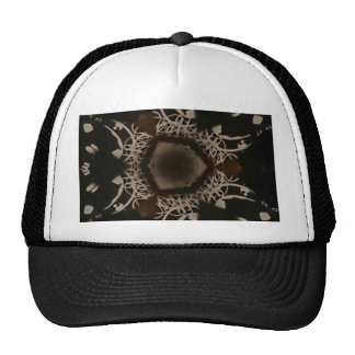 Cool black and white pattern mesh hat