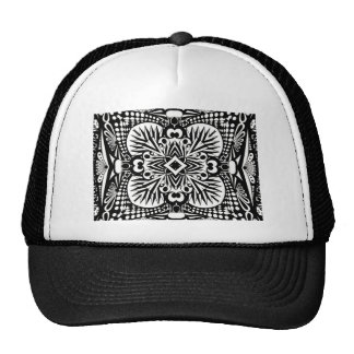 Cool Black and White Pattern Trucker Hat