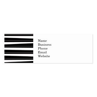 Cool Black and White Pattern Uneven Stripes Double-Sided Mini Business Cards (Pack Of 20)