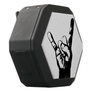 Cool black and white rock fingers, black bluetooth speaker