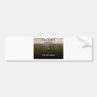 cool black and white ships sailing towards camera bumper sticker
