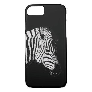 Cool black and white zebra animal wildlife black iPhone 8/7 case