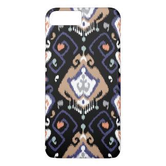 Cool black beige grey ikat tribal patterns iPhone 7 plus case