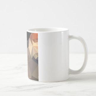 Cool Black Blue Brown Abstract Low Polygon Backgro Coffee Mug