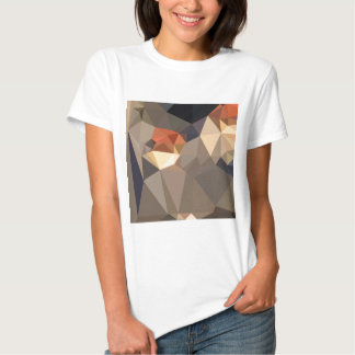 Cool Black Blue Brown Abstract Low Polygon Backgro T Shirt