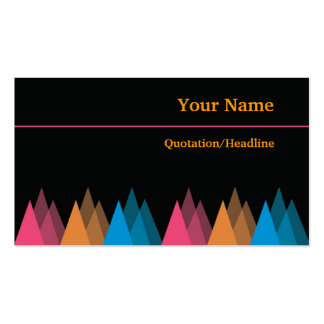 Cool Black Business Cards-Colorful Triangles