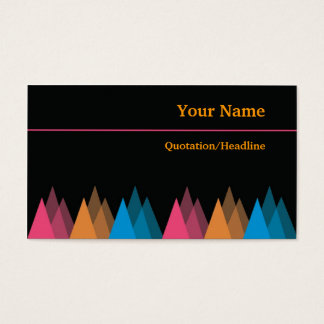 Cool Black Business Cards-Colorful Triangles Business Card