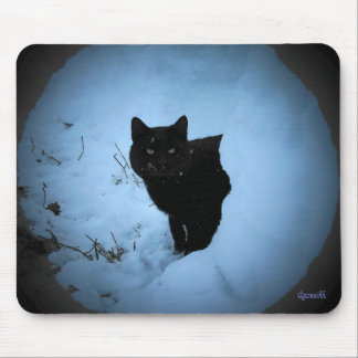 Cool Black Cat by djoneill Mouse Pad