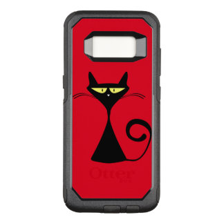 Cool black cat on Samsung Galaxy s8 otterbox case