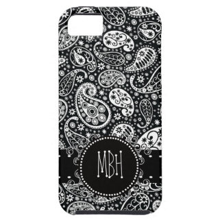 Cool Black Country Paisley with Swirly Name Tag iPhone SE/5/5s Case