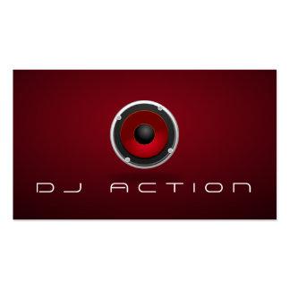 Cool Black DJ Music Club Entertainment Business Card