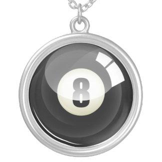 Cool Black Eight Ball Billards Custom Jewelry