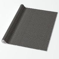 Cool black grey cheetah print monogram wrapping paper