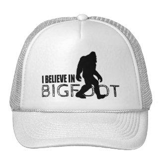 Cool Black I Believe in Bigfoot Trucker Hat