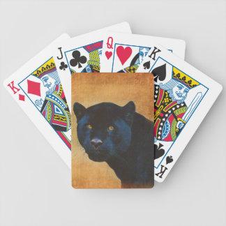 Cool Black Jaguar Panther Wildlife Big Cat Bicycle Playing Cards