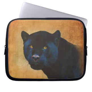 Cool Black Jaguar Panther Wildlife Big Cat Computer Sleeve