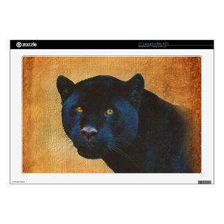 "Cool Black Jaguar Panther Wildlife Big Cat Decals For 17"" Laptops"