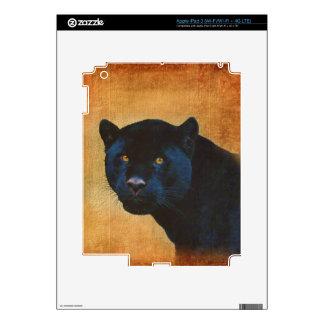 Cool Black Jaguar Panther Wildlife Big Cat Skins For iPad 3