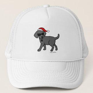 Cool Black Labrador Cartoon Christmas Hats
