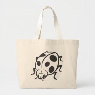 Cool Black Ladybug Tattoo Logo Canvas Bag