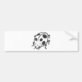 Cool Black Ladybug Tattoo Logo Bumper Sticker